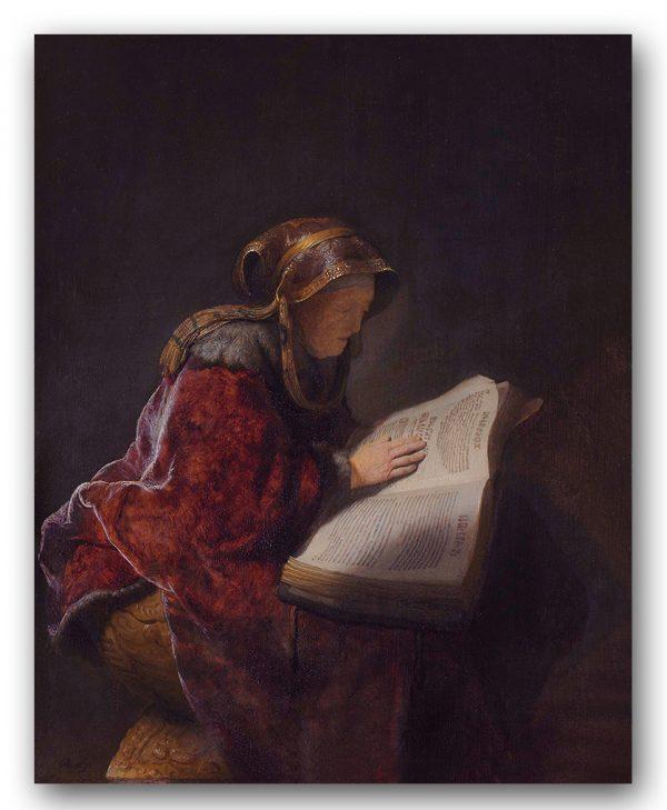 "Rembrandt, ""Prorokini Anna"", 1631. źródło foto: Domena Publiczna"